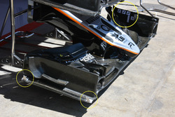 Sahara Force India F1 VJM09 front wing detail