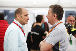 Bruno Michel, CEO with Mario Isola, Racing Manager, Pirelli Motorsport