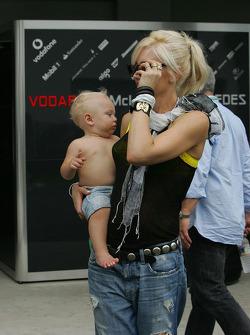 Gwen Stefani, singer and her child Zuma