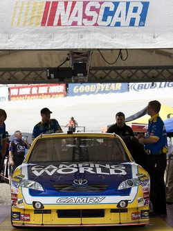 The No. 7 Camping World Toyota during inspection