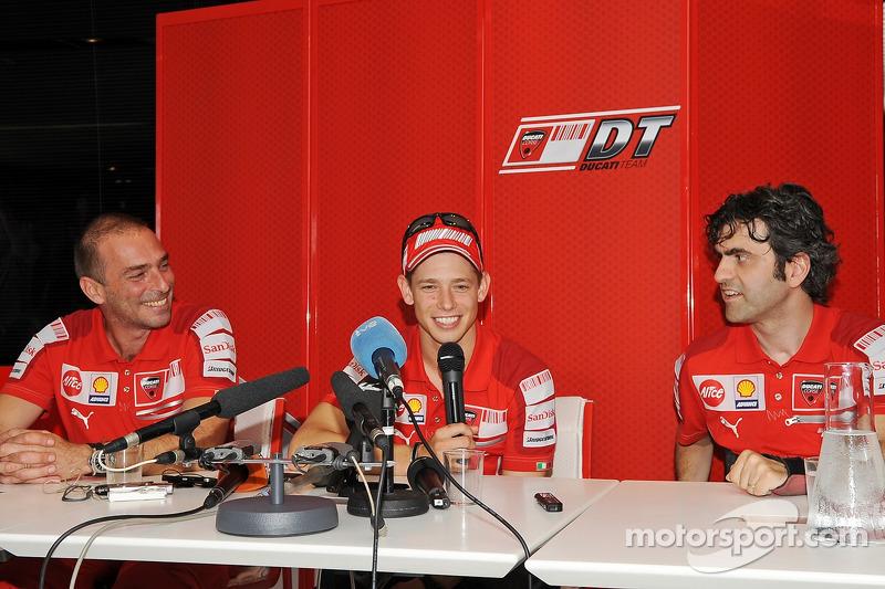 Rueda de prensa de la Ducati de Casey Stoner, Ducati Marlboro Team