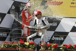Podium: race winner Jorge Lorenzo, Fiat Yamaha Team celebrates with champagne