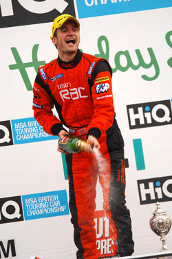 Colin Turkington on the day he celebrated his 2009 BTCC championship