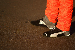 Racing shoes of Allan Simonsen