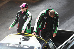 Driver Parade: #333 Wilson Security Racing: David Wall, Leanne Tander