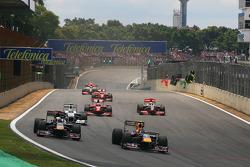 Sebastian Vettel, Red Bull Racing y Jaime Alguersuari, Scuderia Toro Rosso