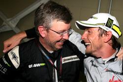 Jenson Button, Brawn GP en Ross Brawn, teambaas Brawn GP