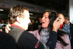 Ex-DTM driver Christian Abt with Jasmin Rubatto, girlfriend of Timo Scheider