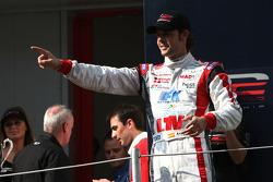 2009 F2 Champion Andy Soucek on the championship podium
