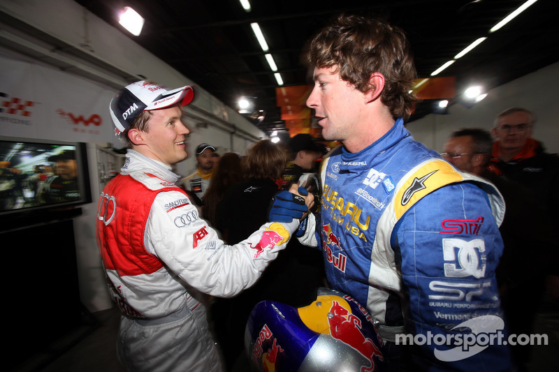 Mattias Ekström and Travis Pastrana