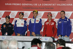 Press conference: Andrea Dovizioso, Repsol Honda Team, Jorge Lorenzo, Fiat Yamaha Team, Valentino Rossi, Fiat Yamaha Team, Casey Stoner, Ducati Marlboro Team and Ben Spies, Yamaha Factory Racing