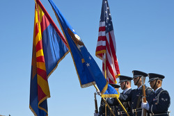 The United States Air Force Color Guard presents the colors