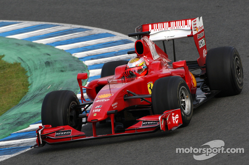 2009 год: тесты с Ferrari