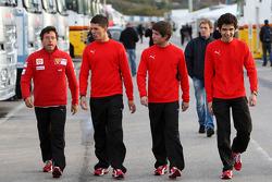 Marco Zipoli, test ediyorfor Scuderia Ferrari, Daniel Zampieri, test ediyorfor Scuderia Ferrari, Pablo Sanchez Lopez, test ediyorfor Scuderia Ferrari