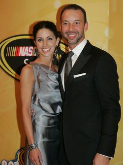 Crew chief Chad Knaus with his girlfriend Lisa Rockelmann
