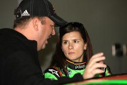 JR Motorsports crew chief Tony Eury Jr. talks with Danica Patrick