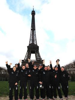 El Equipo Casteu sale de París rumbo a Buenos Aires: David Casteu, Michael Pisano y Ludovic Boinnard