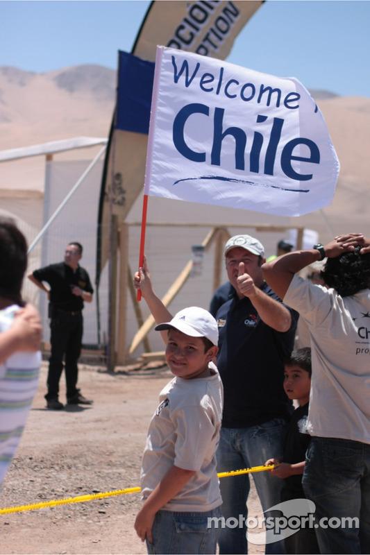 Des fans chiliens