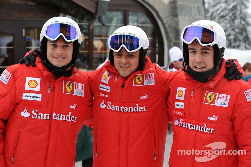 Giancarlo Fisichella, Felipe Massa et Fernando Alonso
