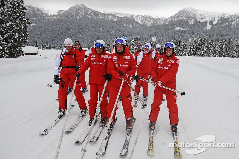Felipe Massa, Fernando Alonso et Giancarlo Fisichella