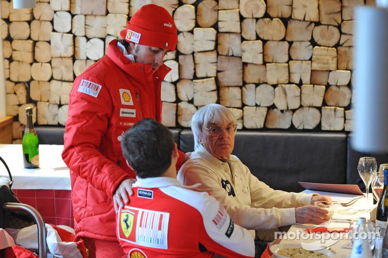 Fernando Alonso avec Bernie Ecclestone