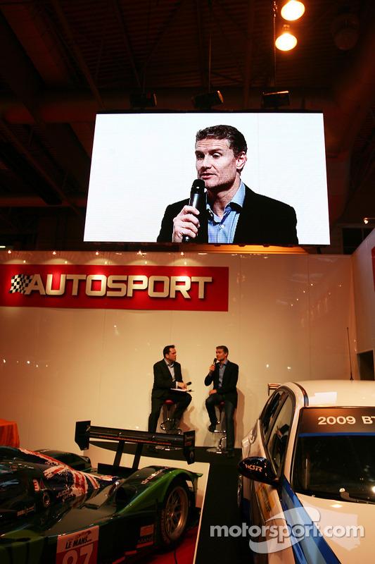 David Coulthard en pleine interview