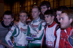 World Championship championship karters at the charity karting event