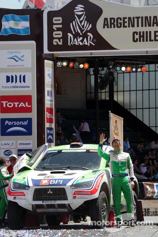 Podium catégorie AutosDakar 2010 : Miguel Barbosa et Miguel Ramalho