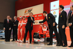 The Ferrari F10 is presented