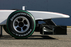 The new BMW Sauber C29, front wing