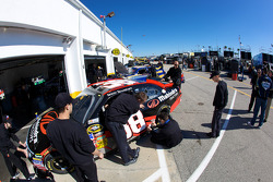 Front Row Motorsports with Yates Racing Ford team members at work
