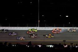 Bill Elliott, Wood Brothers Racing Ford and Joey Logano, Joe Gibbs Racing Toyota crash