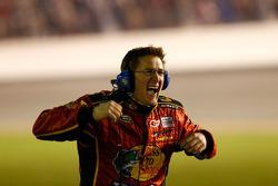 Earnhardt Ganassi Racing Chevrolet team member celebrates