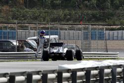 Rubens Barrichello, Williams F1 Team, stops on circuit