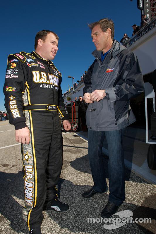 Ryan Newman, Stewart-Haas Racing Chevrolet en Ray Evernham