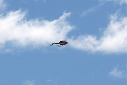 Een helikopter ondersteboven