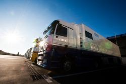 The Carlin team truck