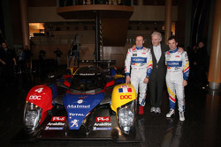 Olivier Panis, Hugues de Chaunac and Nicolas Lapierre with the ORECA-Matmut Peugeot 908 HDi FAP