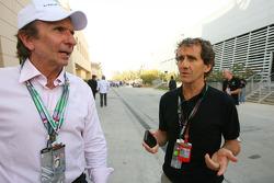 Emerson Fittipaldi, 1972 and 1974 F1 World Champion and Alain Prost 1985, 1986, 1989 and 1994 F1 World Champion