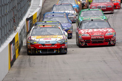 Greg Biffle, Roush Fenway Racing Ford leads the field