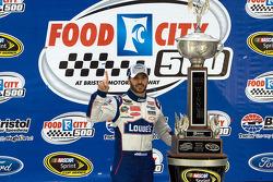 Victory lane: race winner Jimmie Johnson, Hendrick Motorsports Chevrolet celebrates