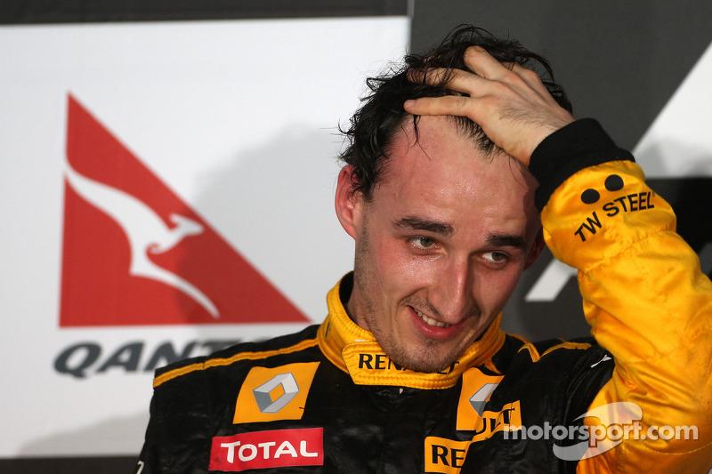 Podium: 2de Robert Kubica, Renault F1 Team