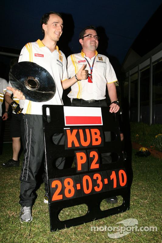 Robert Kubica, Renault F1 Team en Eric Boullier, Team Principal, Renault F1 Team