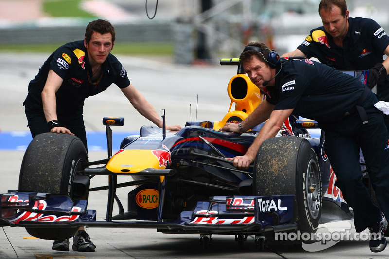 De wagen van Mark Webber, Red Bull Racing