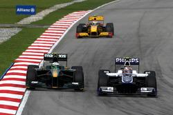 Heikki Kovalainen, Lotus F1 Team, Nico Hulkenberg, Williams F1 Team