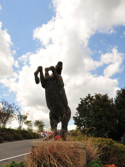 One of the many statues at Barber Motorsport Park