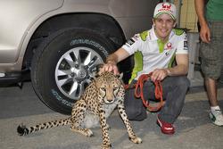 Mika Kallio, Pramac Racing Team with a cheetah