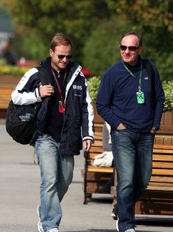 Rubens Barrichello, Williams F1 Team and his father Rubao Barrichello