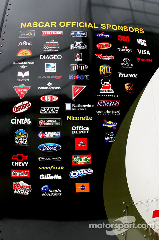 nascar sponsors are listed on the side of the sprint cup nascar logo sticker nascar logo svg