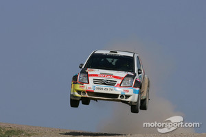 Thierry Neuville in Rally Turkey 2010 driving a Citroen C2 S1600